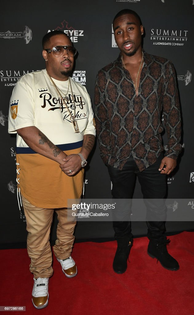 L T  Hutton and Demetrius Shipp Jr  attends the All Eyez on