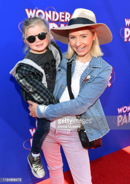 Hutton Michael Cameron and Beverley Mitchell attend the premiere of Paramount Pictures' Wonder Park at Regency Bruin Theatre on March 10 2019 in Los...