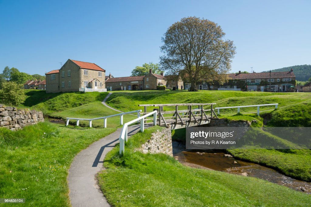 Hutton-le-Hole, Ryedale, North York Moors, England : Stock Photo