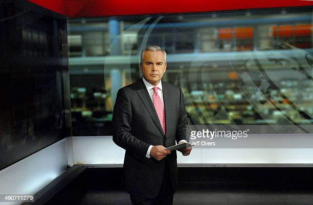 Huw Edwards in N9 news studio for the Ten O clock news