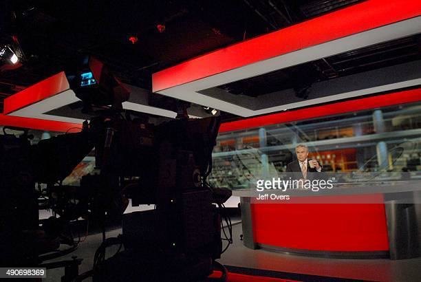 Huw Edwards in new N9 news studio 21st April 2008