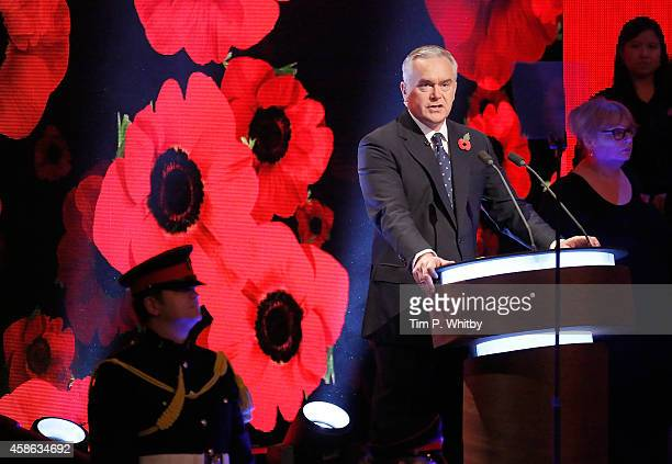 Huw Edwards on stage during The Royal British Legion's Festival of Remembrance at Royal Albert Hall on November 8 2014 in London England