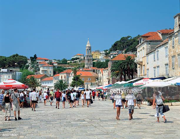 Hvar town Croatia Hvar is a Croatian island in the Adriatic Sea off the Dalmatian coast