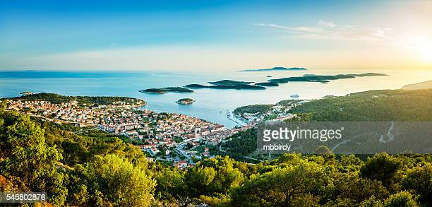 hvar town on hvar island, croatia - adriatic sea stock pictures, royalty-free photos & images