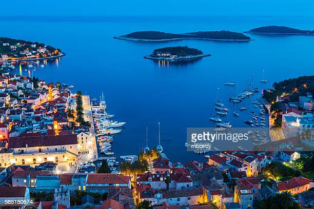 hvar town on hvar island, croatia - hvar stock photos and pictures
