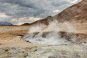 hverir geothermal fields landscape