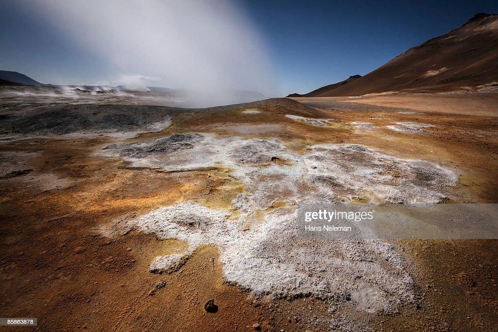 Hverir Geothermal Zone. : Stock-Foto