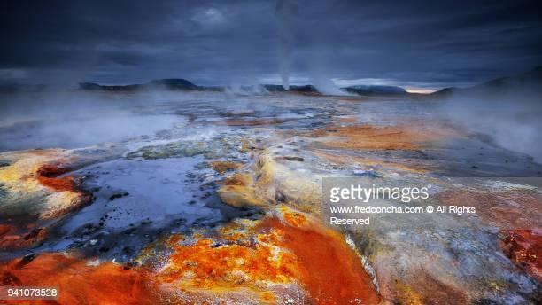 Hverir landscape in Iceland