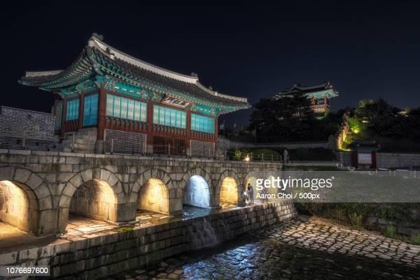 hwahongmun gate at night
