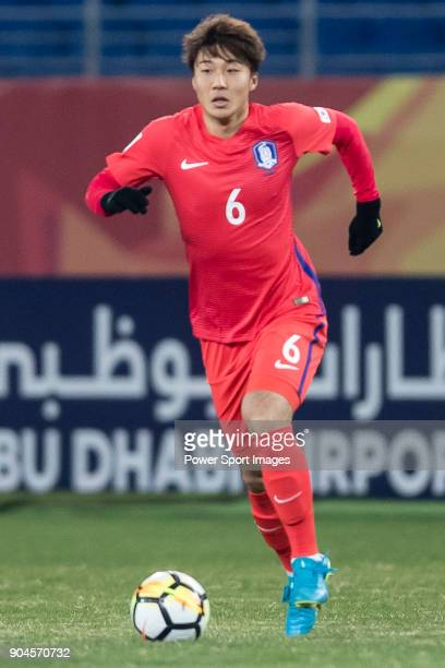 Hwang KiWook of South Korea in action during the AFC U23 Championship China 2018 Group D match between South Korea and Vietnam at Kunshan Sports...