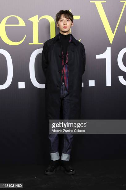 Hwang Minhyun attends Moncler Genius Show One House Different Voices Milan Fashion Week Autumn / Winter 2019/20 on February 20 2019 in Milan Italy