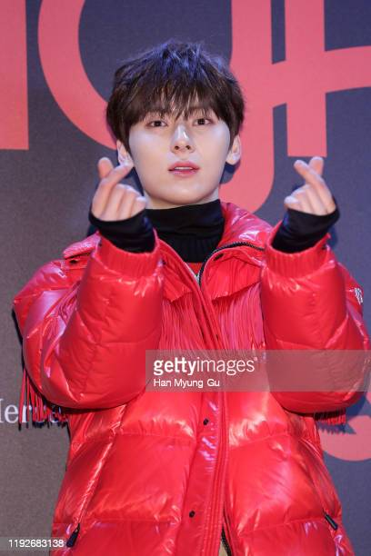 Hwang MinHyun of boy band Wanna One attends the photocall for GQ Night on December 05 2019 in Seoul South Korea
