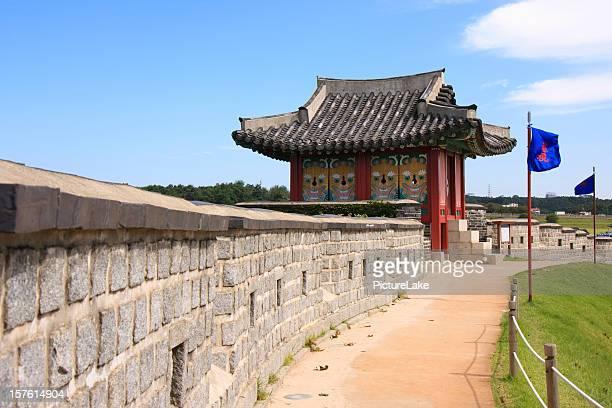 華城の壁、水原、韓国 - 水原市 ストックフォトと画像