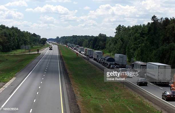 IMAGE Hwy 401 between Chatham and London has been a death trap experts say because it is two lanes lots of transport truck traffic straight flat...