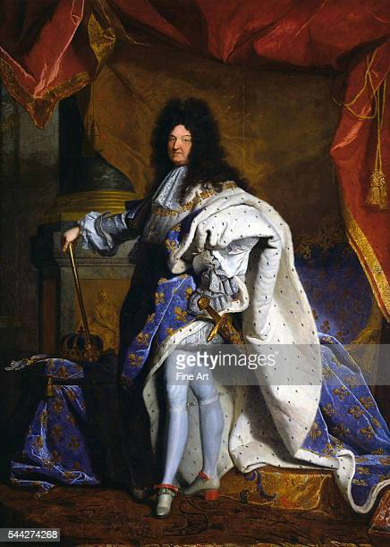 Hyacinthe Rigaud Louis XIV King of France oil on canvas 313 x 205 cm Palace of Versailles Versailles France