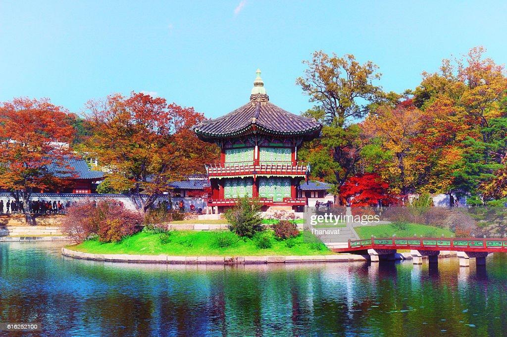 hyangwonjeong pavilion, Geoncheonggung Palace : Foto de stock
