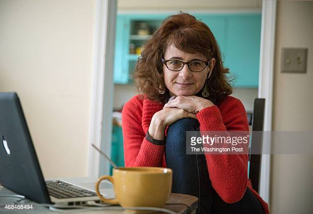 Dana Flor a documentary filmmaker edits her latest project about a gay DC gang at her home in Hyatsville MD March 31 2015 Dana is working on a DC...