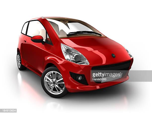 Hybrid car in studio - isolated with clipping path