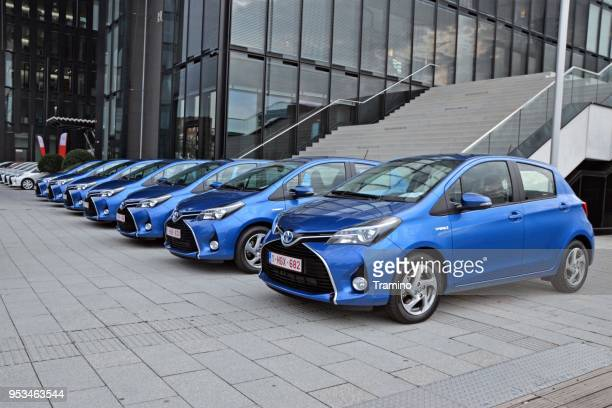 hybrid city cars - vehicle brand names stock photos and pictures