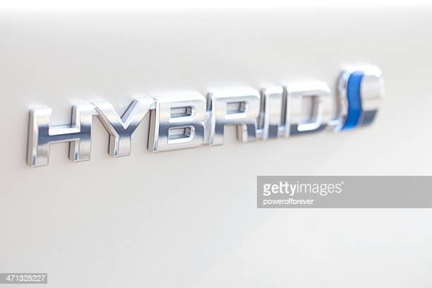 hybrid vehicle logo - hybrid vehicle stock photos and pictures