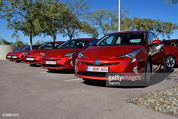Hybrid-Fahrzeuge auf den Parkplatz