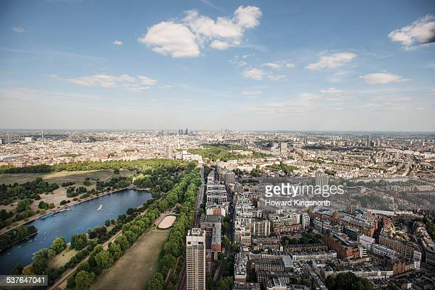hyde park and the serpentine - hyde park london stock pictures, royalty-free photos & images