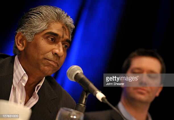 Hyde Park Entertainment Group's CEO Ashok Amritraj and DreamWorks Studios' president and CEO Jeff Small attend Variety's 2011 Film Finance Forum...