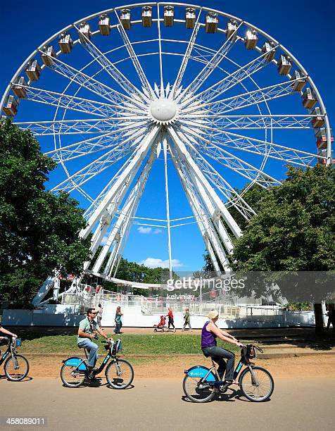 hyde park in london - barclays cycle hire stock pictures, royalty-free photos & images