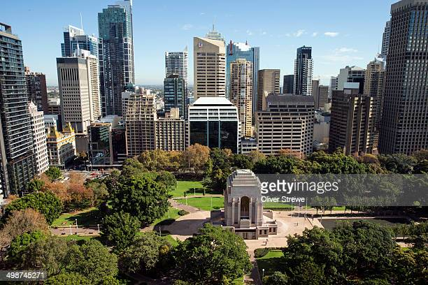 Hyde Park in the centre of Sydney