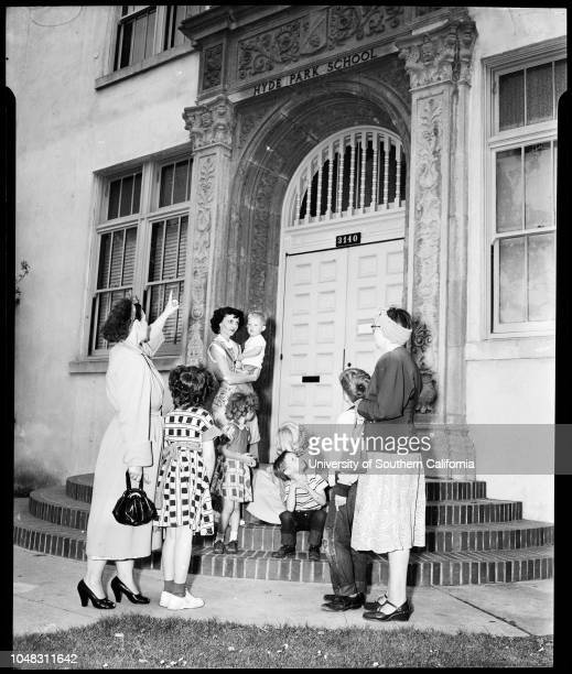 Hyde Park School 3140 W Hyde Park Boulevard 13 April 1953 Mrs RF PriceJanet McIntyre 7 yearsMargaret Ann Brakhage 7 yearsMrs Dorraine BrakhageMrs RE...