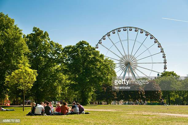 hyde park wheel - hyde park london stock photos and pictures