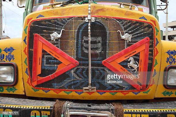 Hyderabad LKW an der Strasse, zur Hauptstadt des Bundesstaates Andrah Pradesh