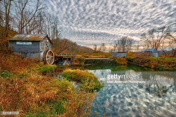 hydes mill in fall colors - protohistory_of_west_virginia stock pictures, royalty-free photos & images
