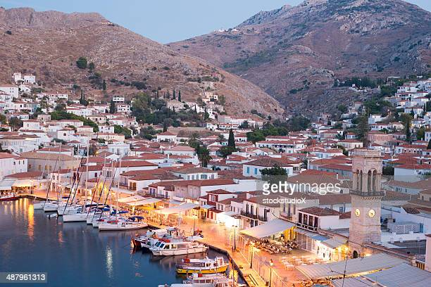 hydra island, greece - hydra greece stock photos and pictures