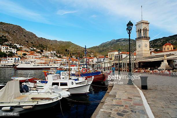 hydra island, greece - hydra stock photos and pictures