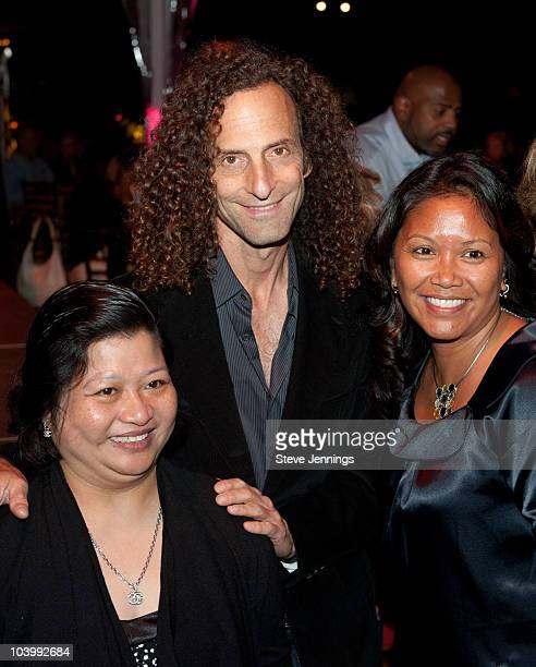 Hydra Mendoza Kenny G and Carmelite Buenaventure attend the First Lady's Reception kicking off the 2010 Audi Best Buddies Challenge at Hearst Castle...