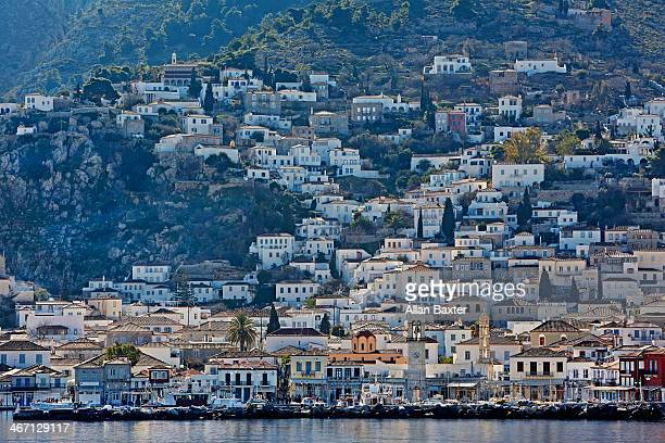 hydra town on the island of hydra - hydra greece photos stock pictures, royalty-free photos & images