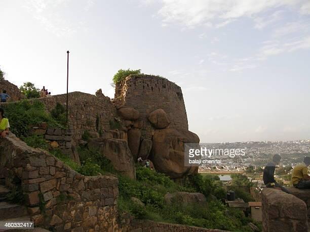 hydrabad - golgonda fort - テランガナ州 ストックフォトと画像