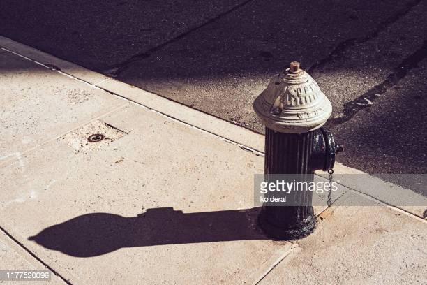 hydrant at midday in new york - fire hydrant stock pictures, royalty-free photos & images