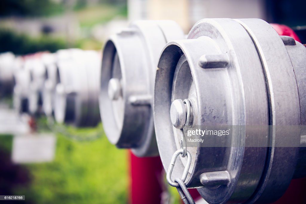 Hydrant connectors : Stock Photo