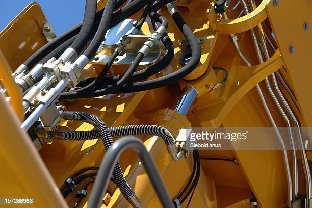 Hydraulic details of construction machinery.