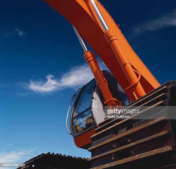 Hydraulic excavator, detail