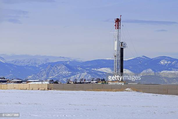 A hydraulic fracturing rig is seen in Weld County Colorado US on Thursday Feb 4 2016 The latest version of a draft review of the Environmental...