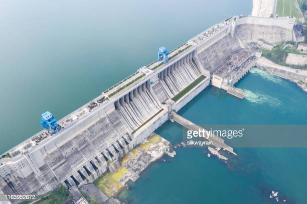 hydroelectric dam closeup - dam china stock pictures, royalty-free photos & images