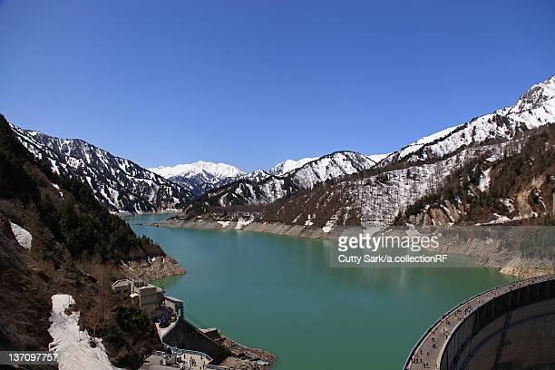 Hydroelectric power dam in kurobe gorge, Toyama Prefecture, Honshu, Japan