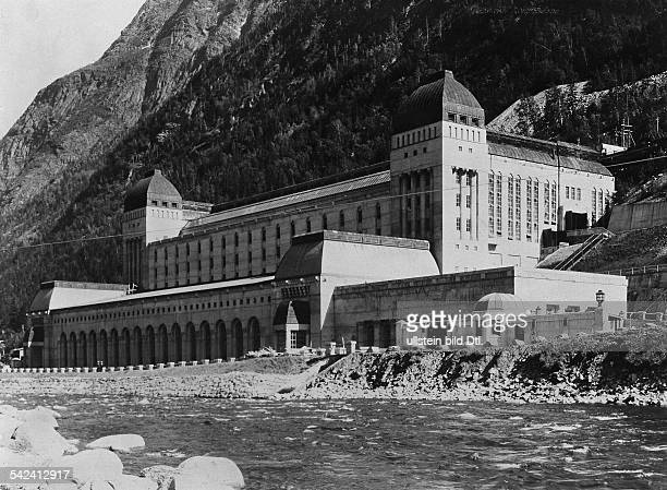 Hydroelectric power plant Vermork near Rjukan in Norwayfor production of heavy water 1932