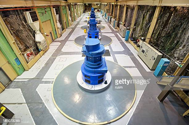 hydroelectric power station, new zealand - hydroelectric power station stock photos and pictures