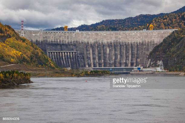 hydroelectric power station - krasnoyarsk stock pictures, royalty-free photos & images