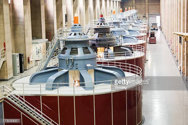 hydroelectric power station turbines, hoover dam fuel and power generation - hoover dam stock photos and pictures