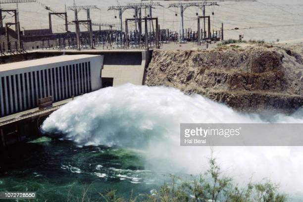 Hydroelectric power water discharge